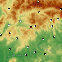 Nearby Forecast Locations - Detva - Χάρτης