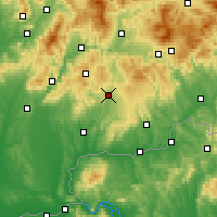 Nearby Forecast Locations - Krupina - Χάρτης