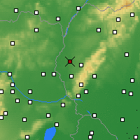 Nearby Forecast Locations - Trnava - Χάρτης