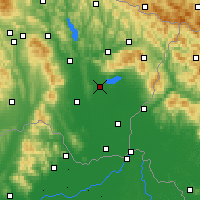 Nearby Forecast Locations - Michalovce - Χάρτης
