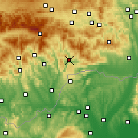 Nearby Forecast Locations - Rožňava - Χάρτης