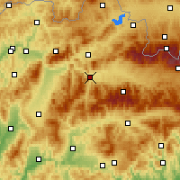 Nearby Forecast Locations - Ružomberok - Χάρτης
