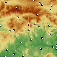 Nearby Forecast Locations - Tisovec - Χάρτης