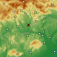 Nearby Forecast Locations - Tornaľa - Χάρτης