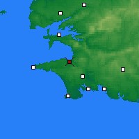 Nearby Forecast Locations - Douarnenez - Χάρτης