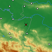 Nearby Forecast Locations - Bijeljina - Χάρτης