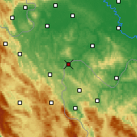 Nearby Forecast Locations - Velika Kladuša - Χάρτης