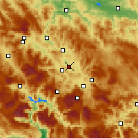 Nearby Forecast Locations - Visoko - Χάρτης