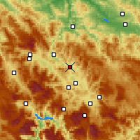 Nearby Forecast Locations - Kakanj - Χάρτης