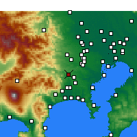 Nearby Forecast Locations - Sagamihara - Χάρτης