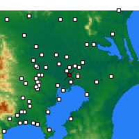 Nearby Forecast Locations - Matsudo - Χάρτης