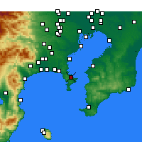 Nearby Forecast Locations - Yokosuka - Χάρτης