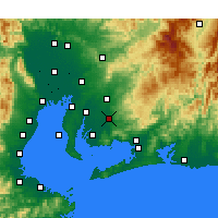 Nearby Forecast Locations - Okazaki - Χάρτης
