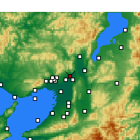 Nearby Forecast Locations - Takatsuki - Χάρτης
