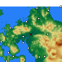 Nearby Forecast Locations - Kurume - Χάρτης