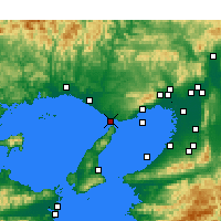 Nearby Forecast Locations - Akashi - Χάρτης