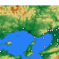 Nearby Forecast Locations - Kakogawa - Χάρτης