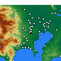 Nearby Forecast Locations - Chōfu - Χάρτης
