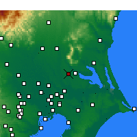 Nearby Forecast Locations - Tsukuba - Χάρτης