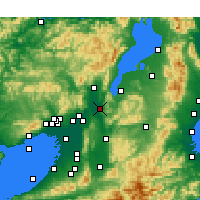 Nearby Forecast Locations - Uji - Χάρτης