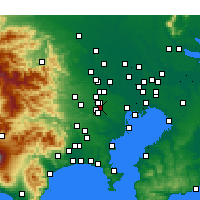 Nearby Forecast Locations - Mitaka - Χάρτης