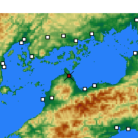 Nearby Forecast Locations - Imabari - Χάρτης