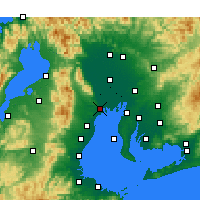Nearby Forecast Locations - Kuwana - Χάρτης