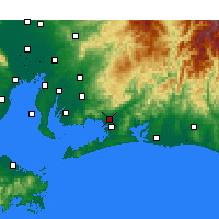 Nearby Forecast Locations - Toyokawa - Χάρτης