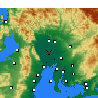 Nearby Forecast Locations - Inazawa - Χάρτης
