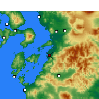 Nearby Forecast Locations - Yatsushiro - Χάρτης