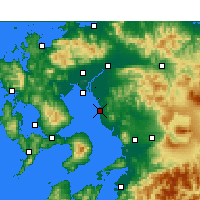 Nearby Forecast Locations - Ōmuta - Χάρτης