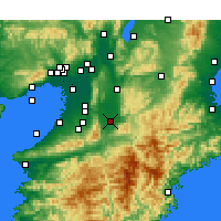 Nearby Forecast Locations - Kashihara - Χάρτης