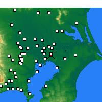 Nearby Forecast Locations - Kamagaya - Χάρτης