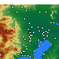 Nearby Forecast Locations - Fujimino - Χάρτης