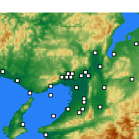 Nearby Forecast Locations - Ikeda - Χάρτης