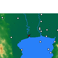 Nearby Forecast Locations - Samut Sakhon - Χάρτης