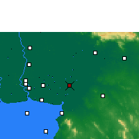 Nearby Forecast Locations - Chachoengsao - Χάρτης