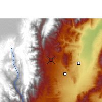 Nearby Forecast Locations - San Salvador de Jujuy - Χάρτης