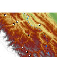 Nearby Forecast Locations - Caranavi - Χάρτης
