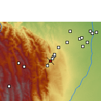Nearby Forecast Locations - Tiquipaya - Χάρτης