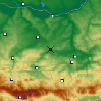 Nearby Forecast Locations - Pavlikeni - Χάρτης