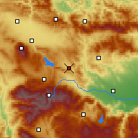 Nearby Forecast Locations - Ihtiman - Χάρτης
