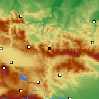 Nearby Forecast Locations - Etropole - Χάρτης