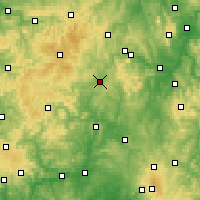 Nearby Forecast Locations - Frankenberg - Χάρτης