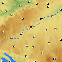 Nearby Forecast Locations - Ehingen - Χάρτης