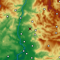 Nearby Forecast Locations - Valréas - Χάρτης