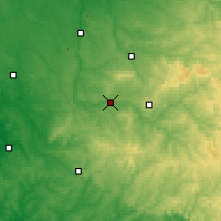 Nearby Forecast Locations - Saint-Junien - Χάρτης
