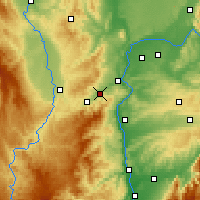 Nearby Forecast Locations - Rive-de-Gier - Χάρτης