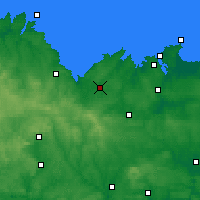 Nearby Forecast Locations - Lamballe - Χάρτης