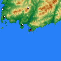 Nearby Forecast Locations - Vrangel - Χάρτης